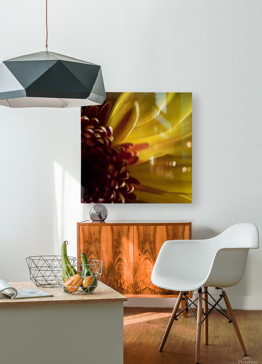 Jaune 2  HD Metal print with Floating Frame on Back