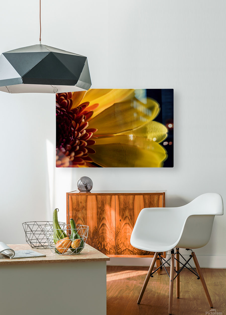 Jaune 1  HD Metal print with Floating Frame on Back