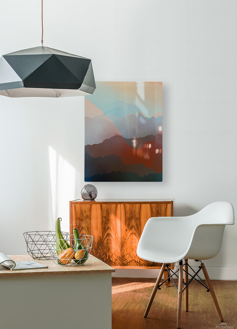 Beautiful Mountains 2  HD Metal print with Floating Frame on Back