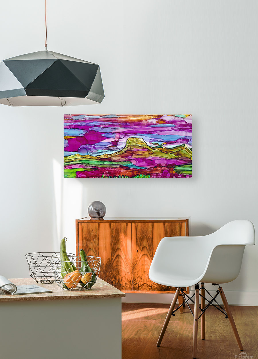 Chief Mountain Sunset   HD Metal print with Floating Frame on Back