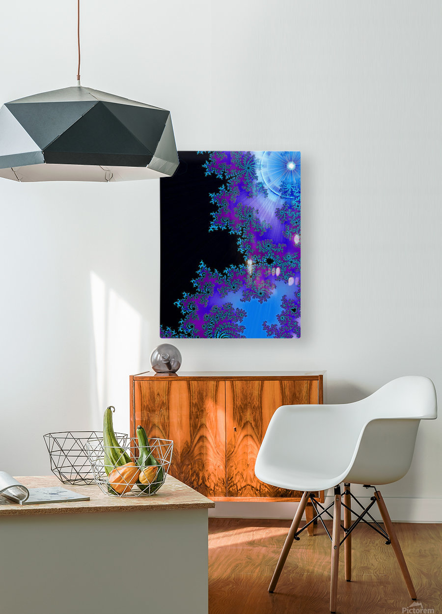 Moonlight  In The Forest Flowers 2   HD Metal print with Floating Frame on Back
