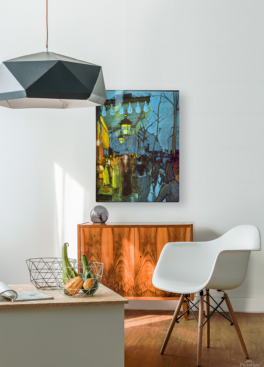 Avenue De Clichy by Anquetin  HD Metal print with Floating Frame on Back