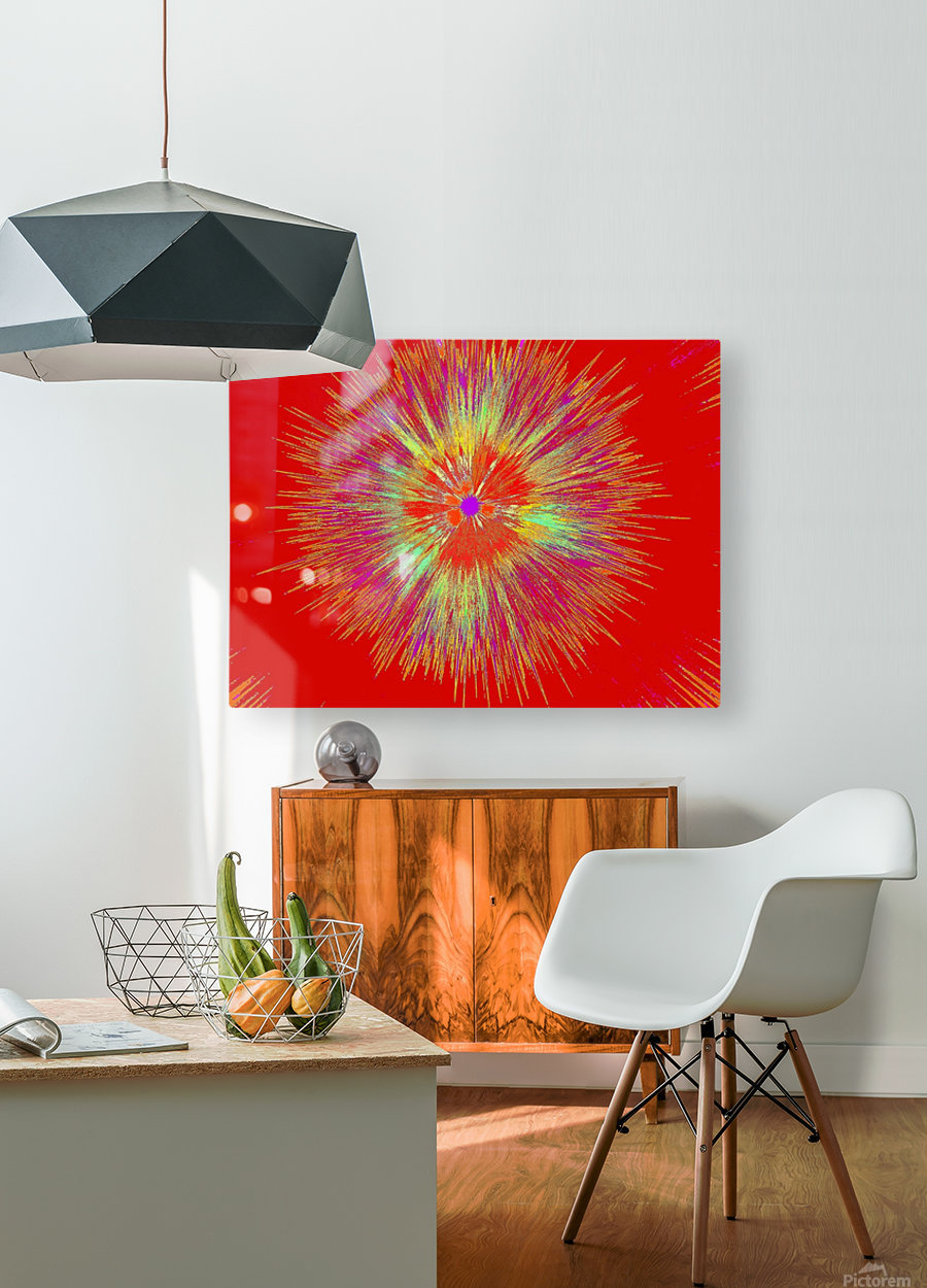 Crazy Wild Wildflower 1  HD Metal print with Floating Frame on Back