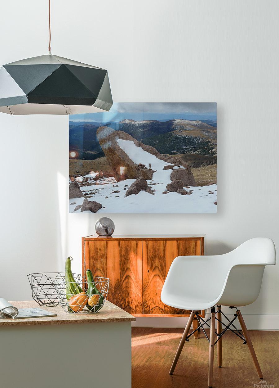 Pikes Peak Colorado   HD Metal print with Floating Frame on Back