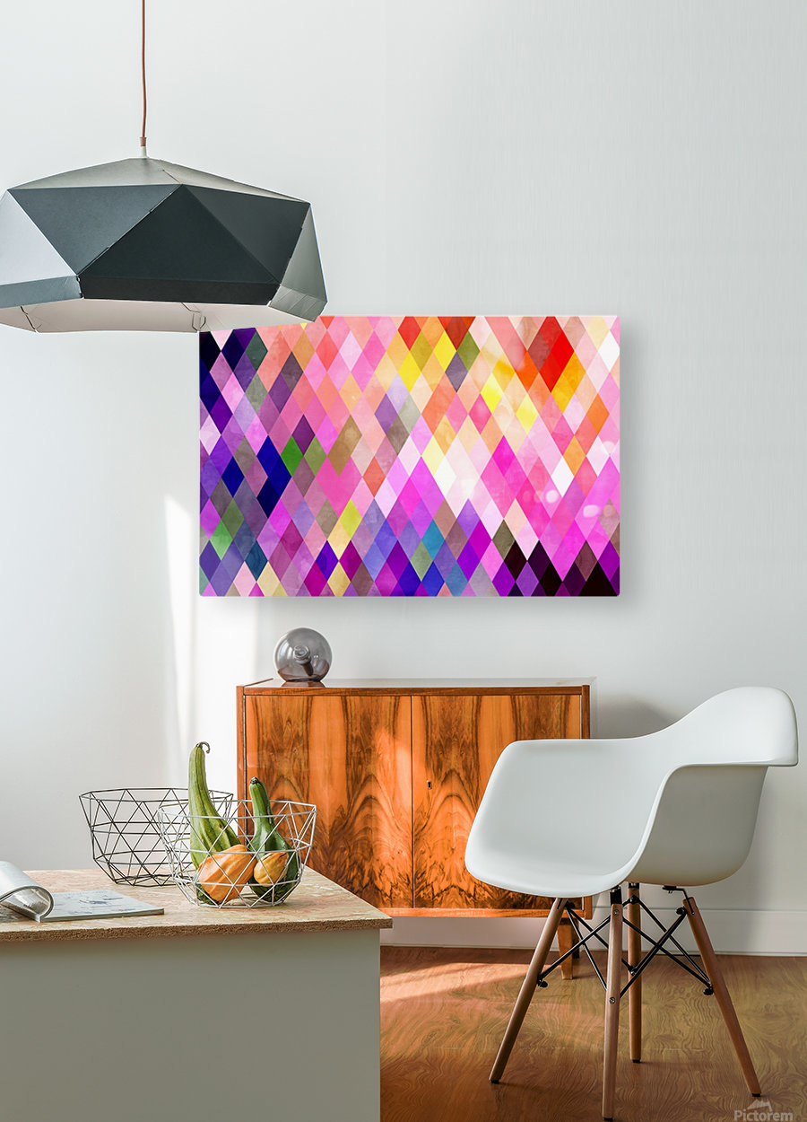 Geometry of Life  HD Metal print with Floating Frame on Back