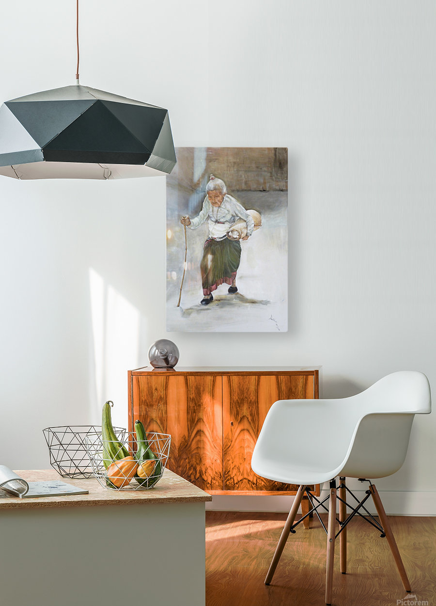 Old_Woman_High_Res  HD Metal print with Floating Frame on Back