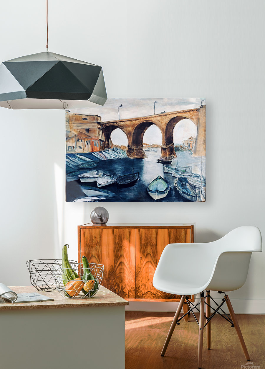 Marseille  HD Metal print with Floating Frame on Back