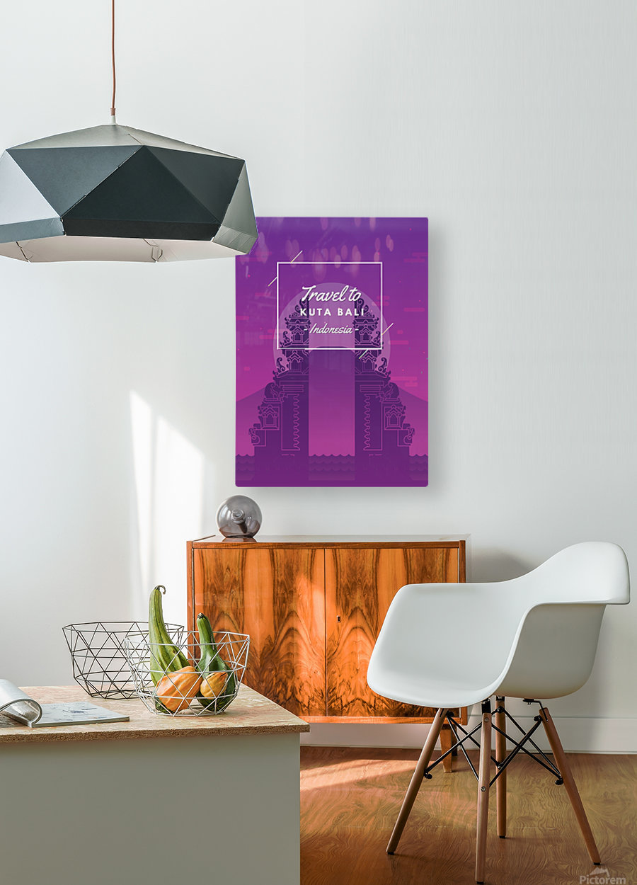 Travel To Kuta Bali   Indonesia  HD Metal print with Floating Frame on Back