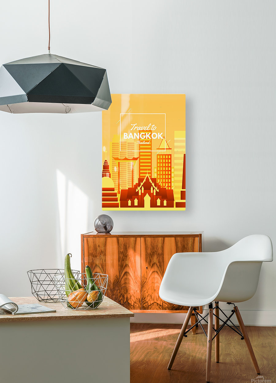 Travel To Bangkok   Thailand  HD Metal print with Floating Frame on Back