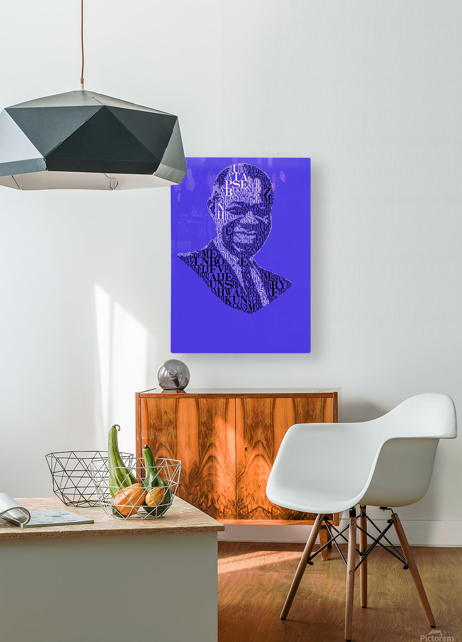 Louis Amstrong  HD Metal print with Floating Frame on Back