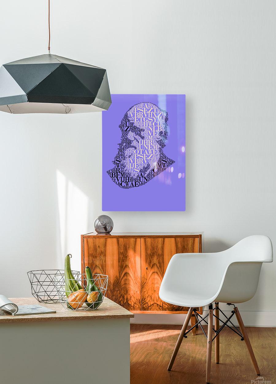 Charles Darwin  HD Metal print with Floating Frame on Back