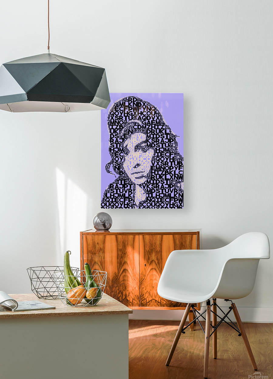 Amy Winehouse2  HD Metal print with Floating Frame on Back