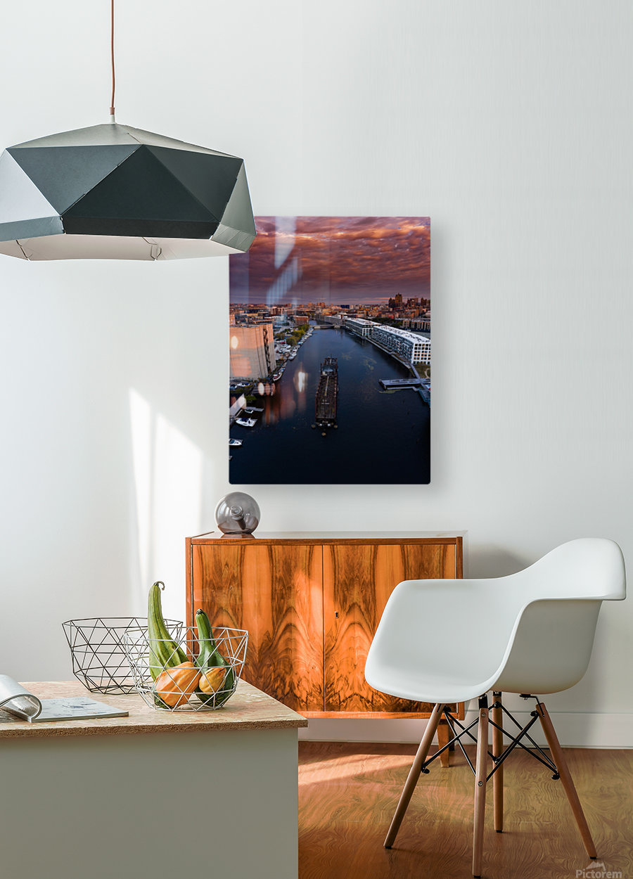 Milwaukee Floating Railway  Impression métal HD avec cadre flottant sur le dos