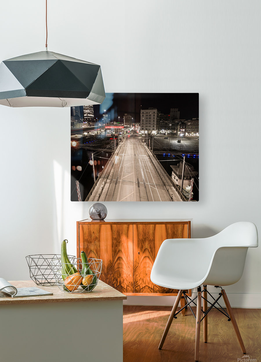 Milwaukee Bridge of The Past  HD Metal print with Floating Frame on Back