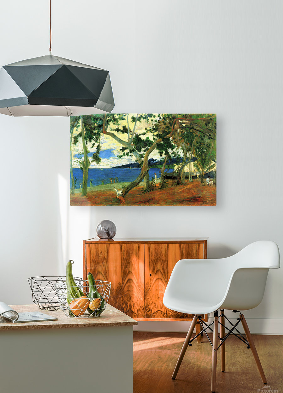Beach Scene 2 by Gauguin  HD Metal print with Floating Frame on Back