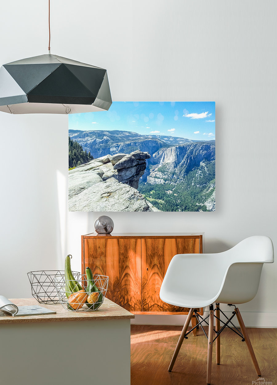 Glacier Point Yosemite Falls  HD Metal print with Floating Frame on Back