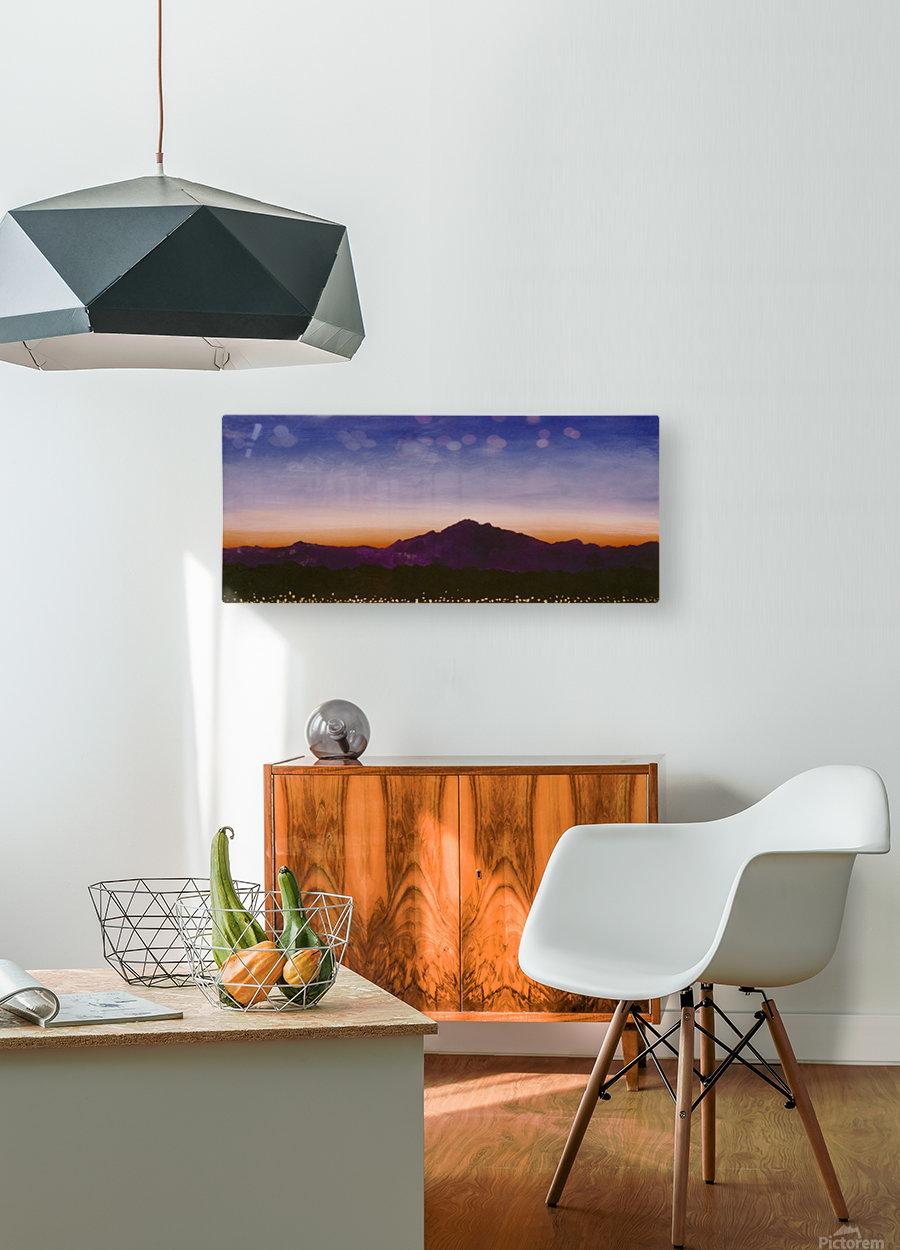 Ridgecrest  HD Metal print with Floating Frame on Back