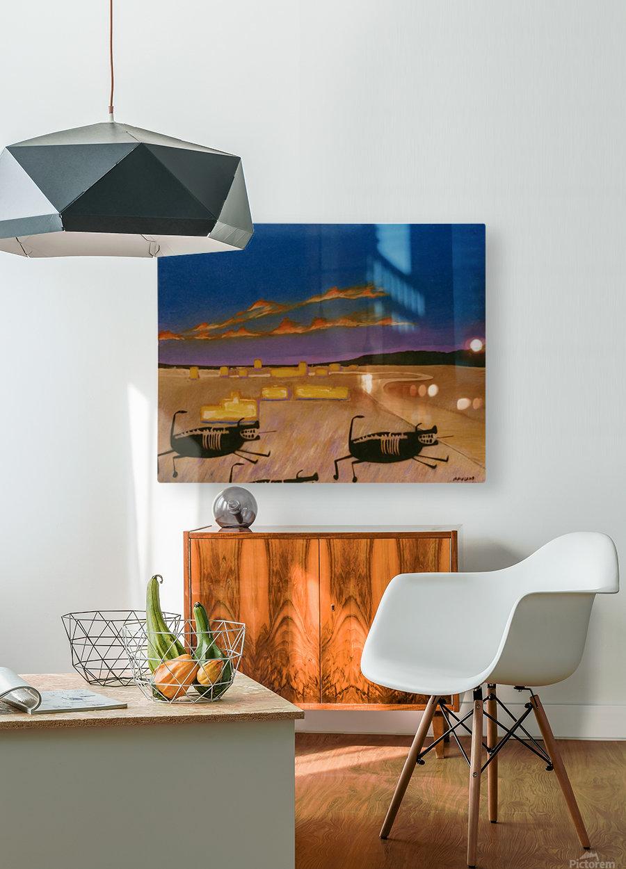 Ridgecrest Dog  HD Metal print with Floating Frame on Back
