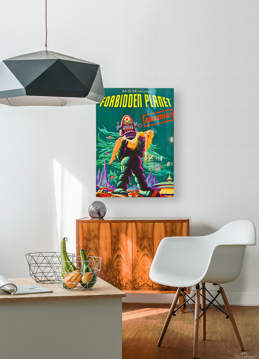 Forbidden Planet - Space Travel  HD Metal print with Floating Frame on Back