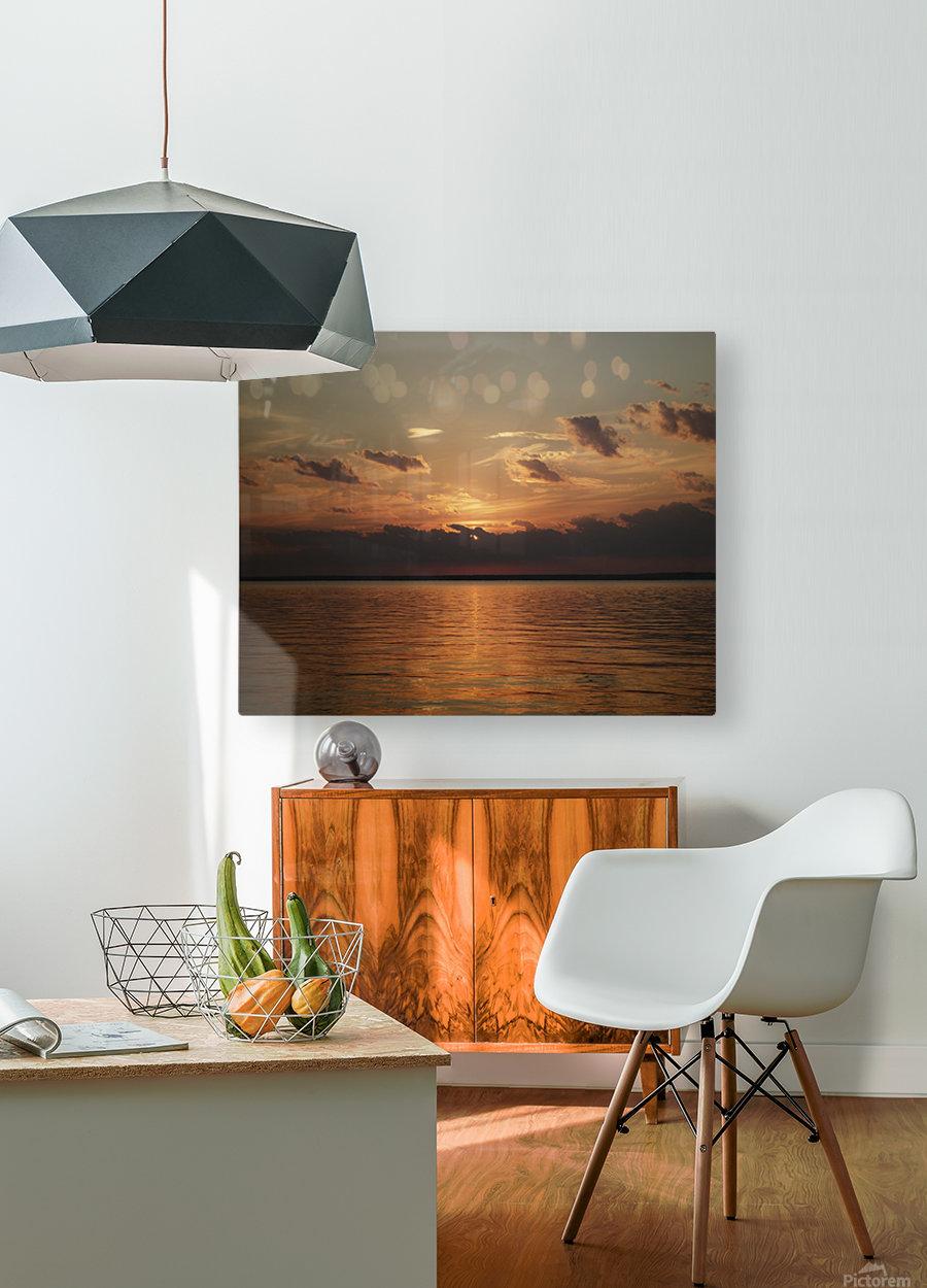 Georgian Sunrise  HD Metal print with Floating Frame on Back