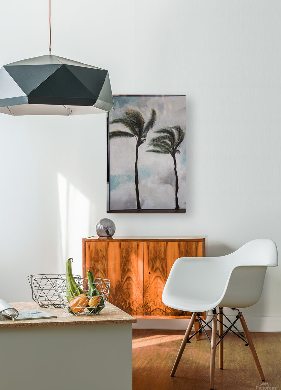 Palms  HD Metal print with Floating Frame on Back