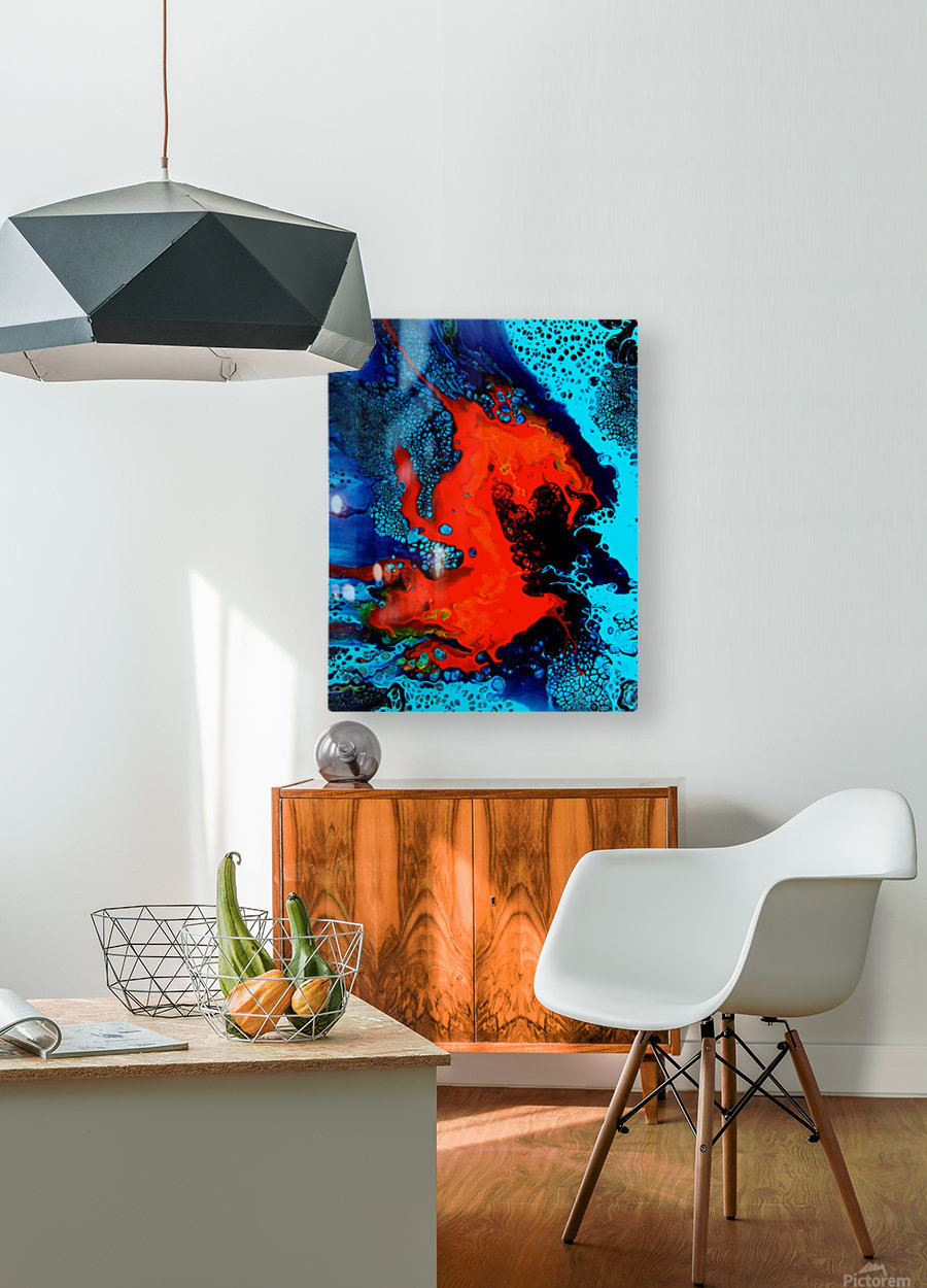 Burning Like a Fire  HD Metal print with Floating Frame on Back