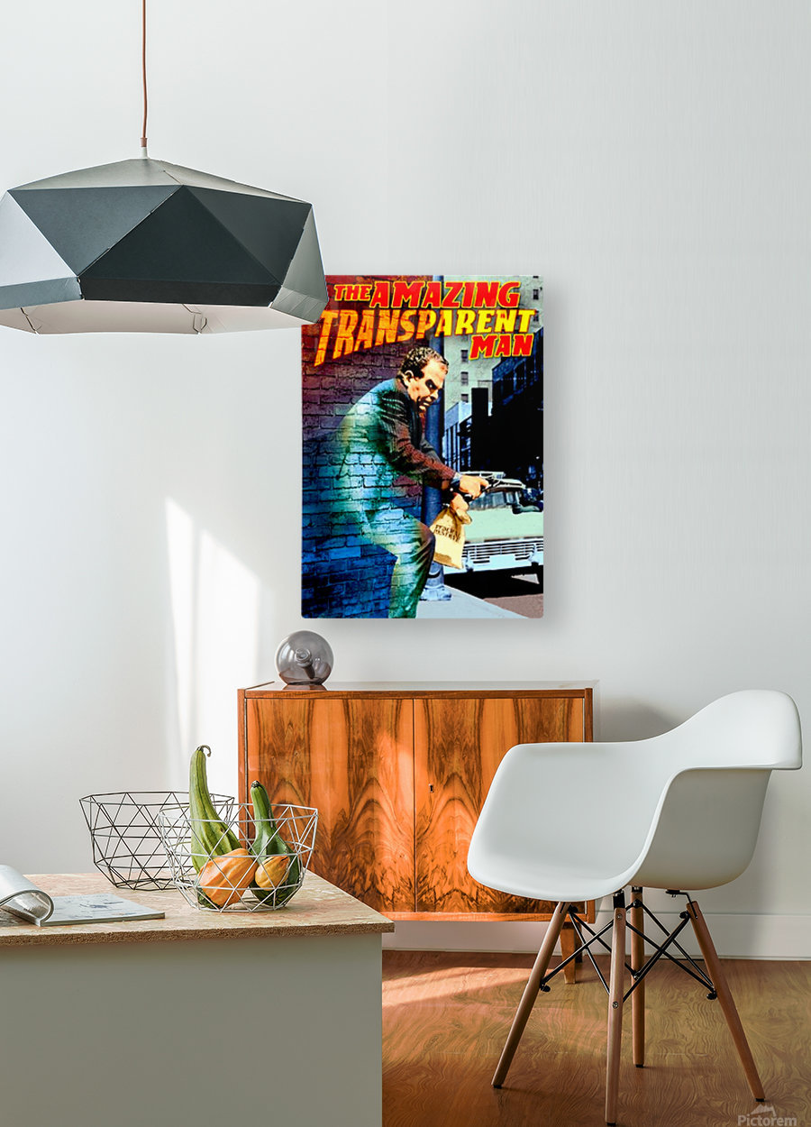 The Amazing Transparent Man 1960 Poster 1  HD Metal print with Floating Frame on Back