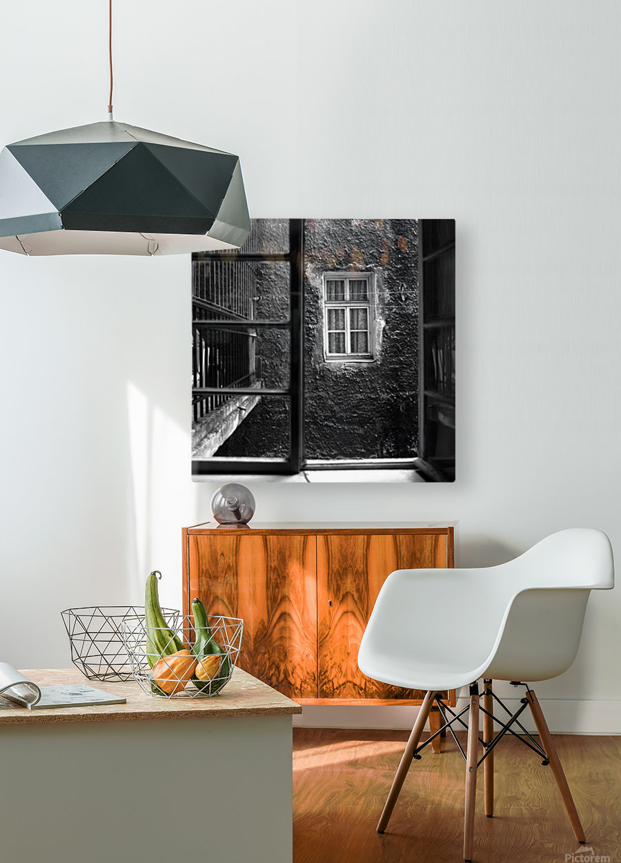 Windows  HD Metal print with Floating Frame on Back
