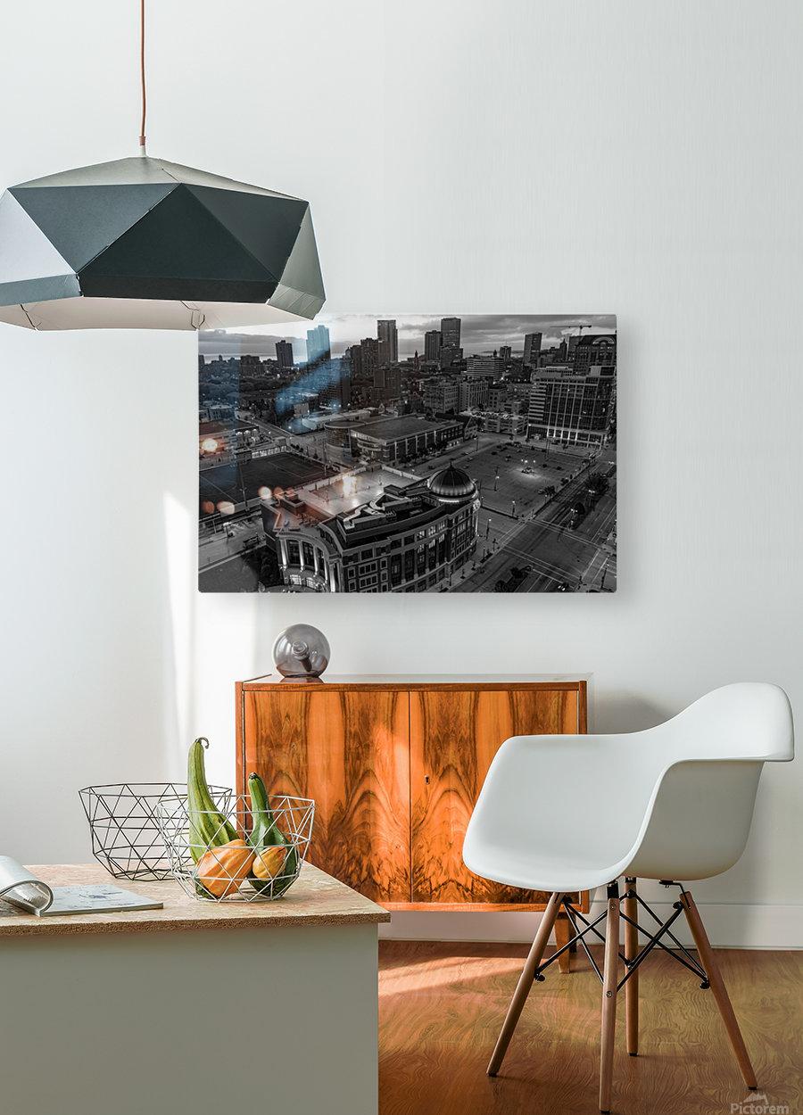 Milwaukee Majestic  Impression métal HD avec cadre flottant sur le dos