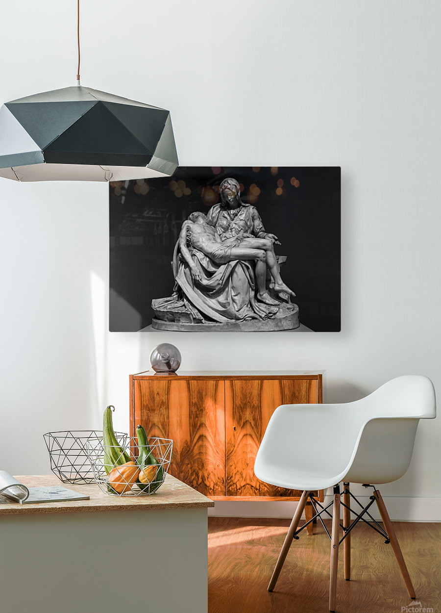 Pieta by Michelangelo  HD Metal print with Floating Frame on Back