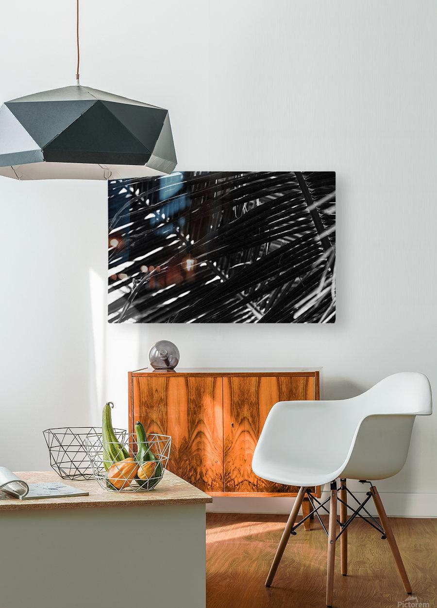Dark Lines  HD Metal print with Floating Frame on Back