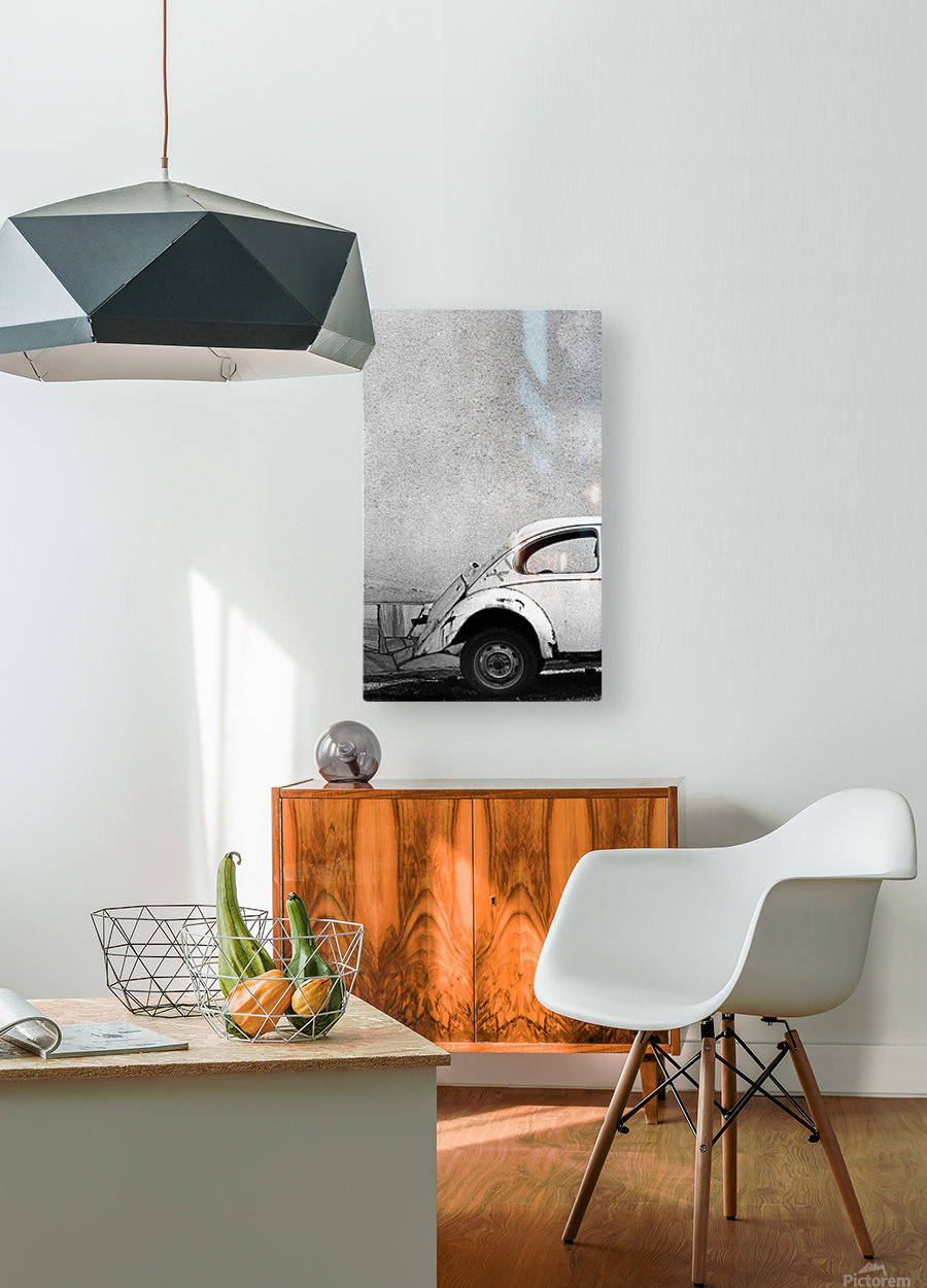 VW  HD Metal print with Floating Frame on Back