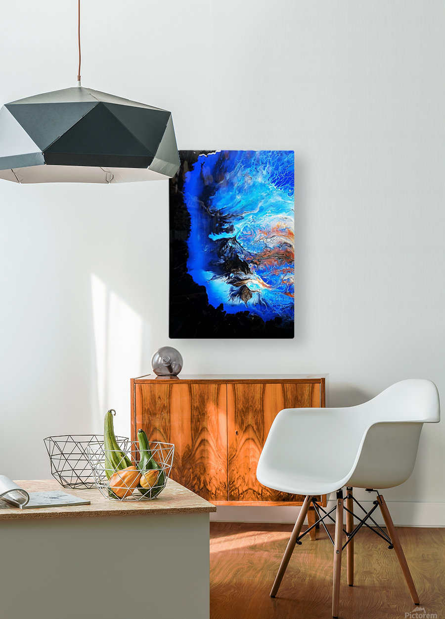 In heaven  HD Metal print with Floating Frame on Back