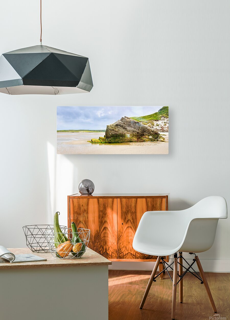 Rock Formations - Maghera Beach 6  HD Metal print with Floating Frame on Back