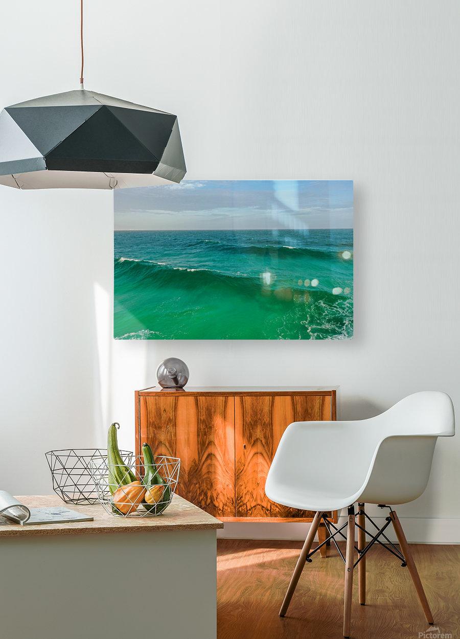 Big Wave  HD Metal print with Floating Frame on Back