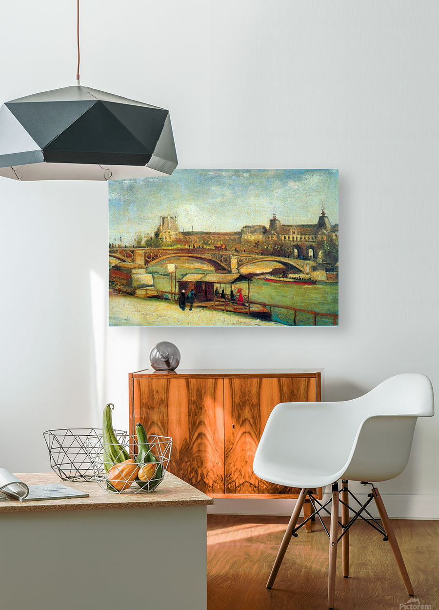 Bologne by Van Gogh  HD Metal print with Floating Frame on Back
