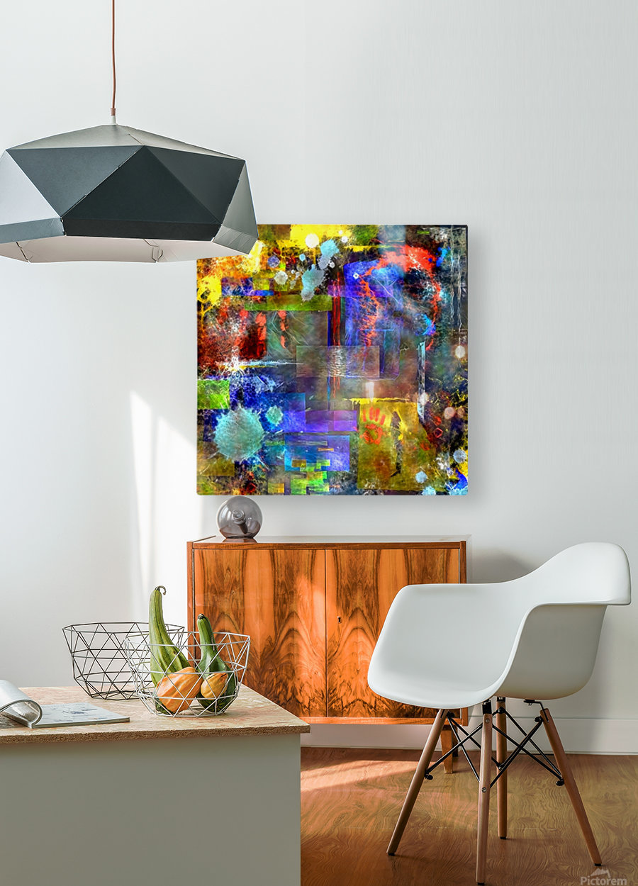 Modern Trendy Abstract Art  HD Metal print with Floating Frame on Back