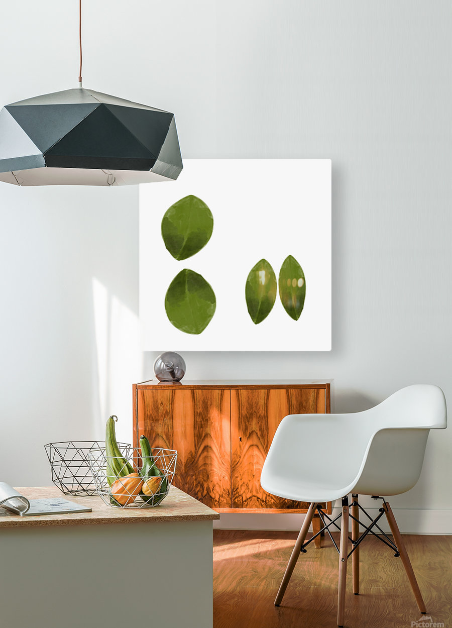 4 Leaves  HD Metal print with Floating Frame on Back