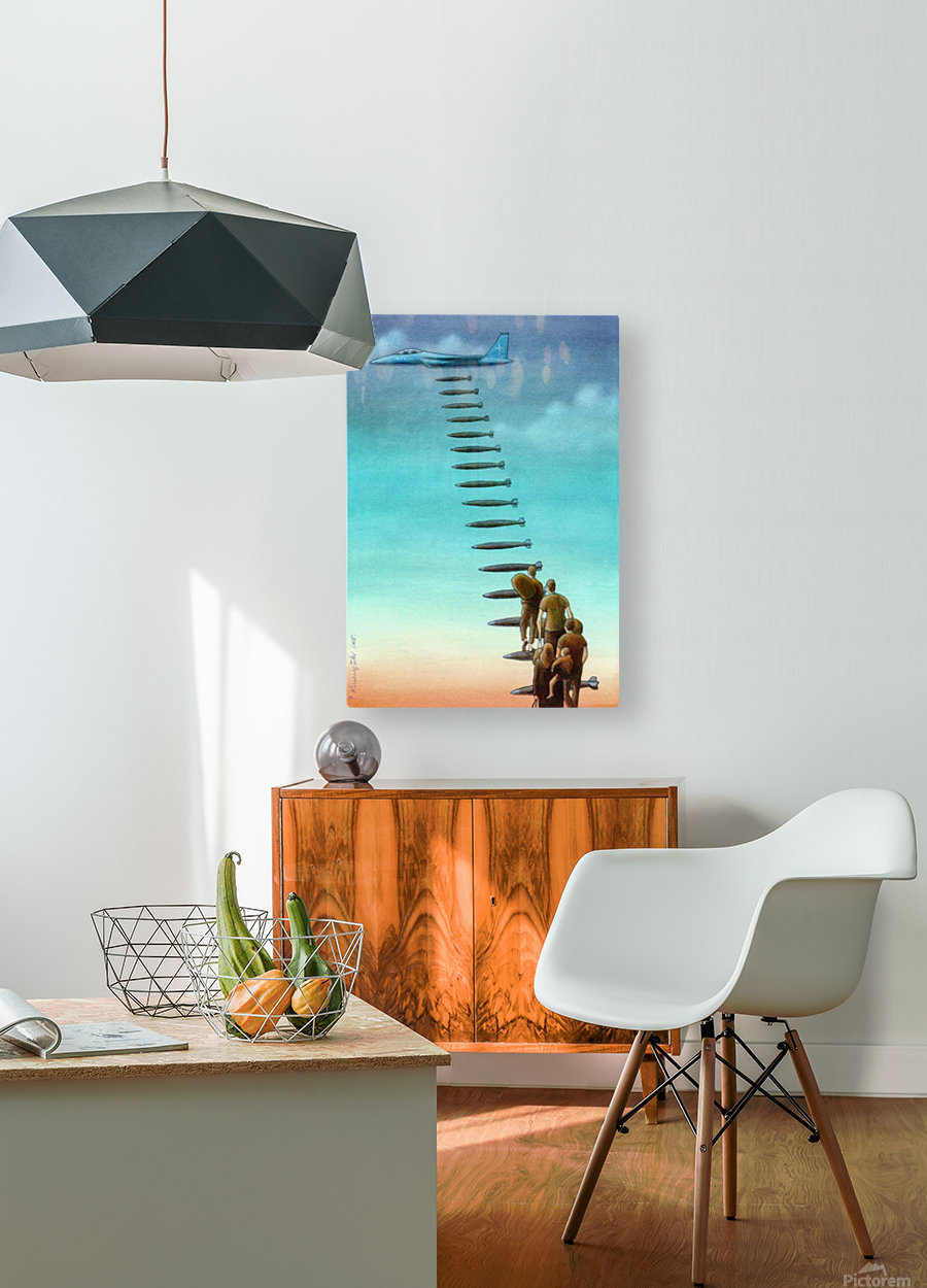 Help  HD Metal print with Floating Frame on Back
