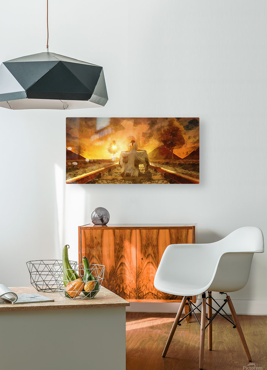 The Way Home  HD Metal print with Floating Frame on Back