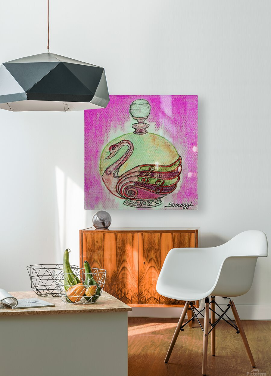 Bottled Purple Swan  HD Metal print with Floating Frame on Back
