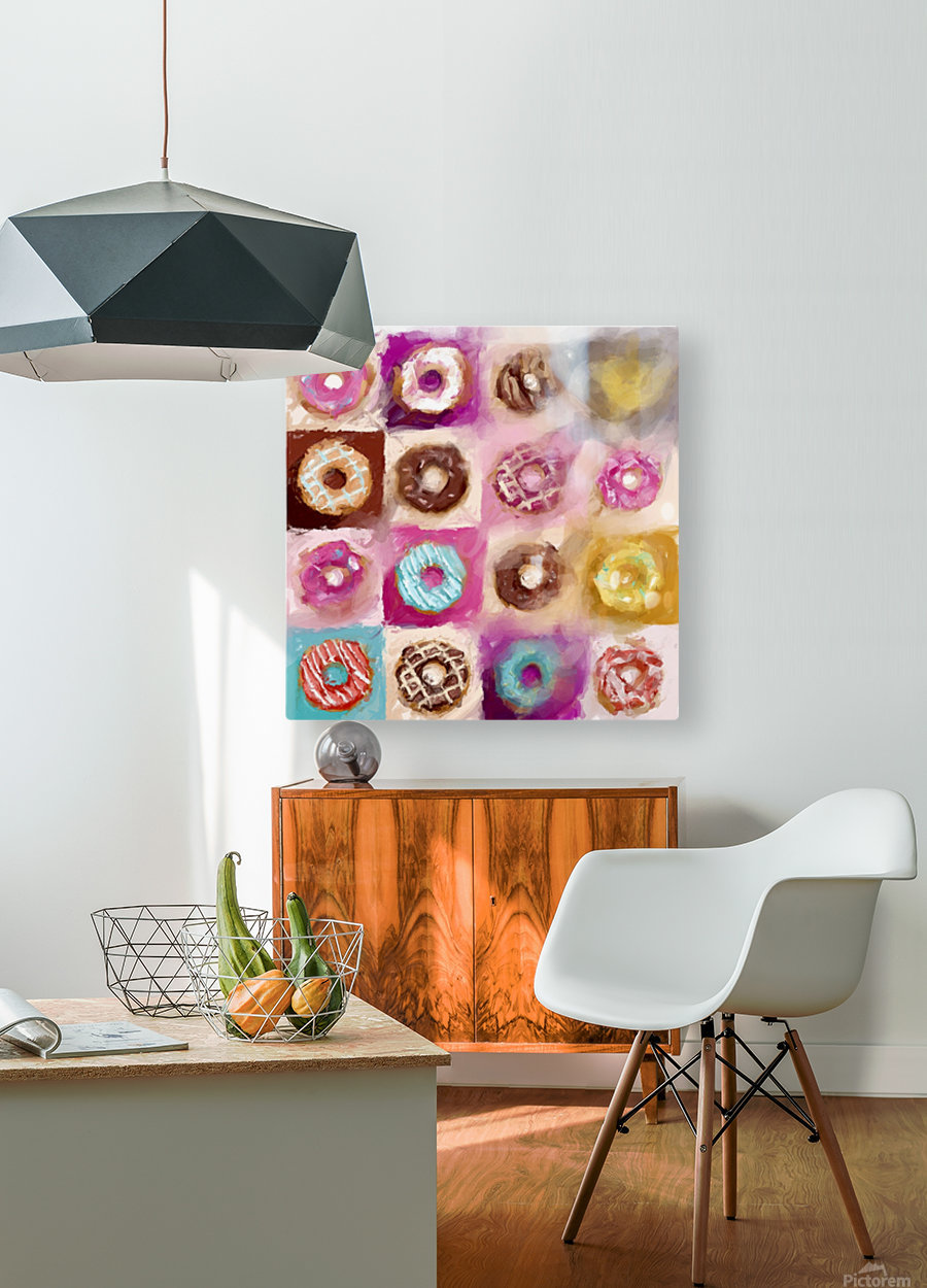 Donut Series No 1  HD Metal print with Floating Frame on Back