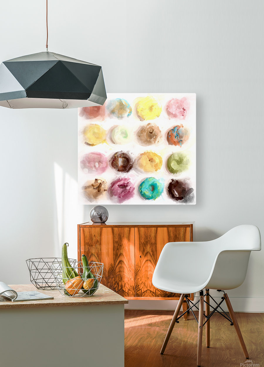 Donut Painting No2  HD Metal print with Floating Frame on Back