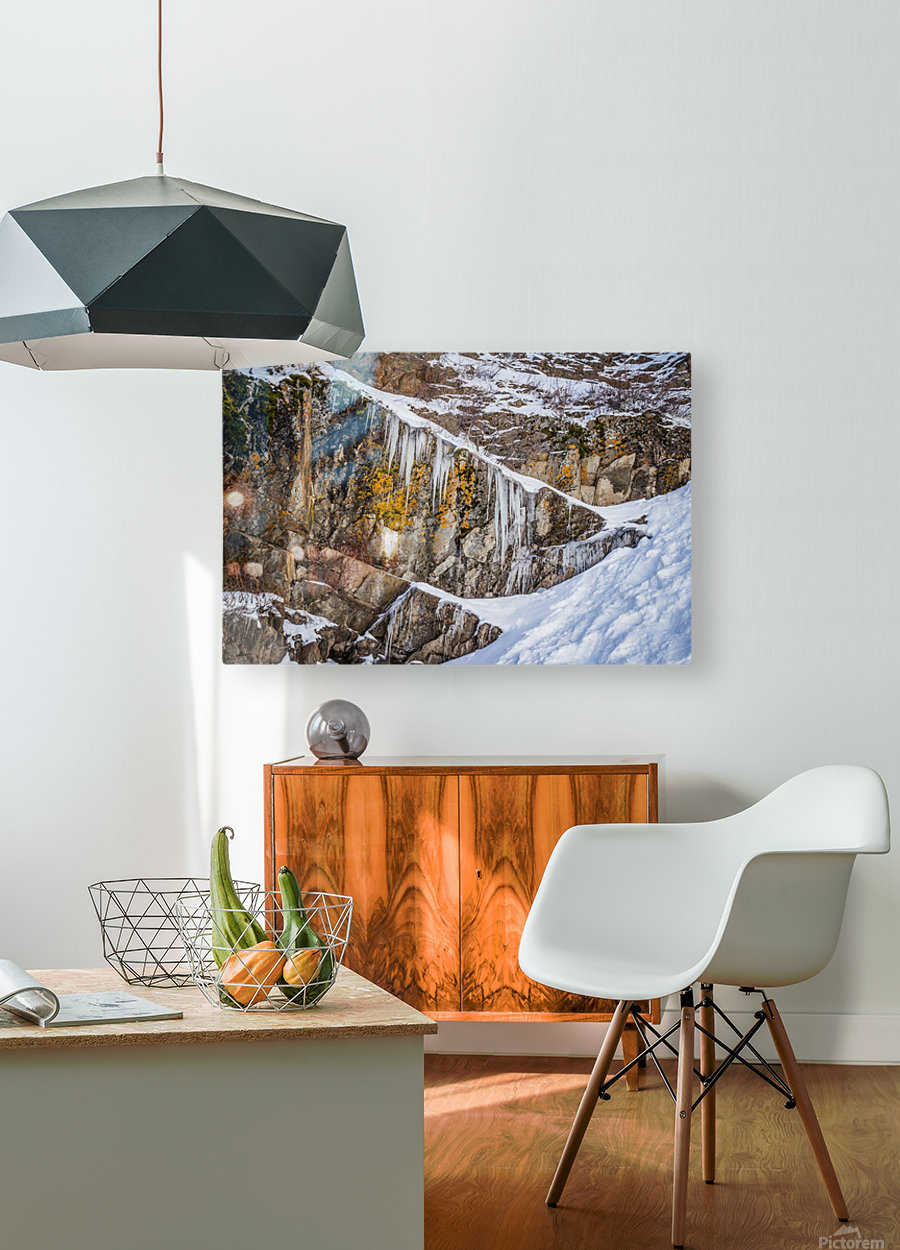 On the Rocks  HD Metal print with Floating Frame on Back