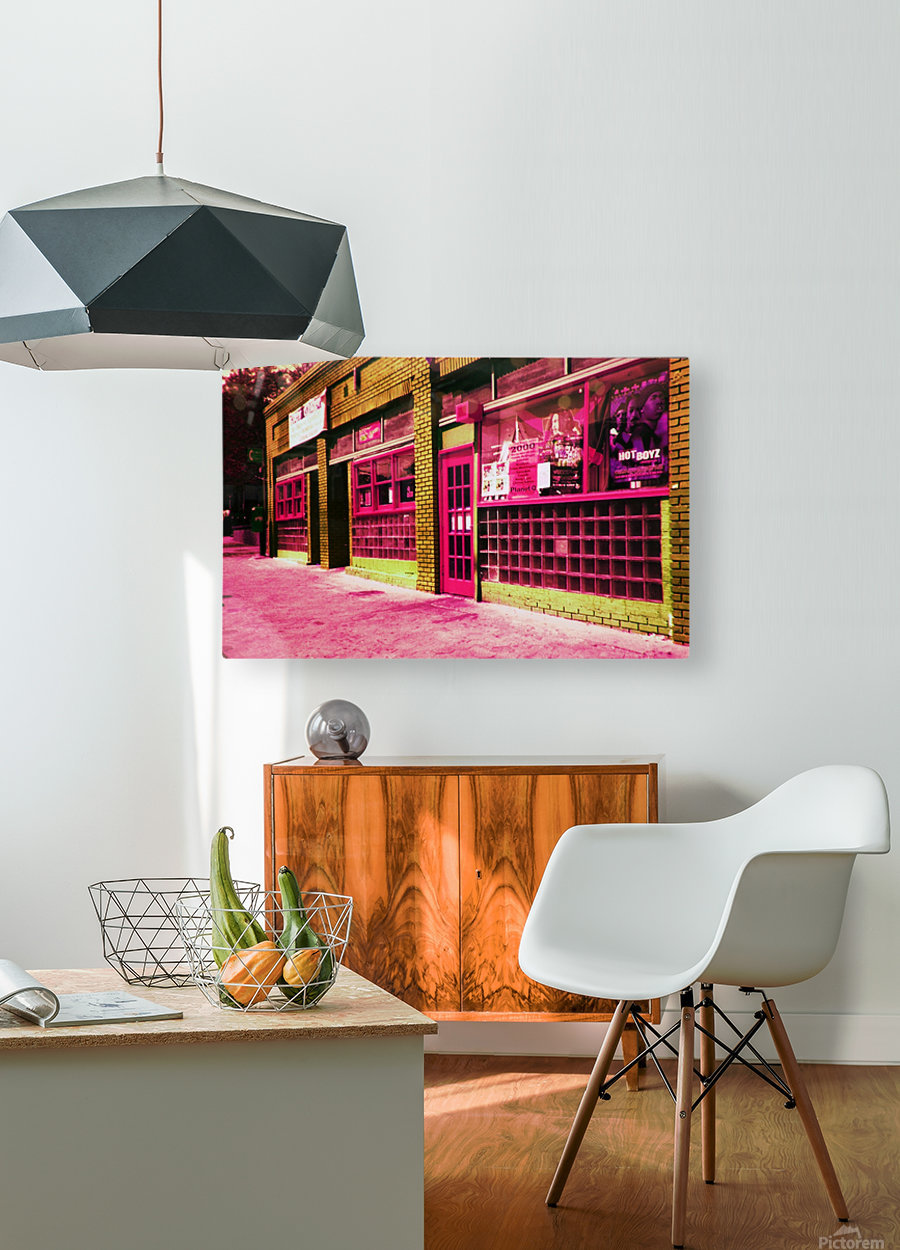 Atlanta Street Scene -- Red  HD Metal print with Floating Frame on Back