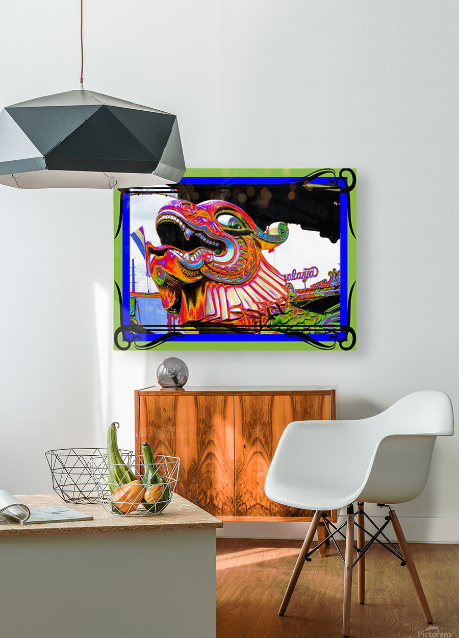 Carnival Creature in Bright Colors  HD Metal print with Floating Frame on Back
