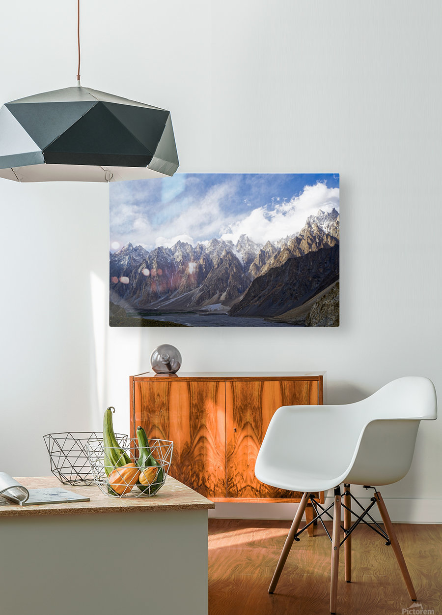 Passu Cathedral Ridge 2  HD Metal print with Floating Frame on Back