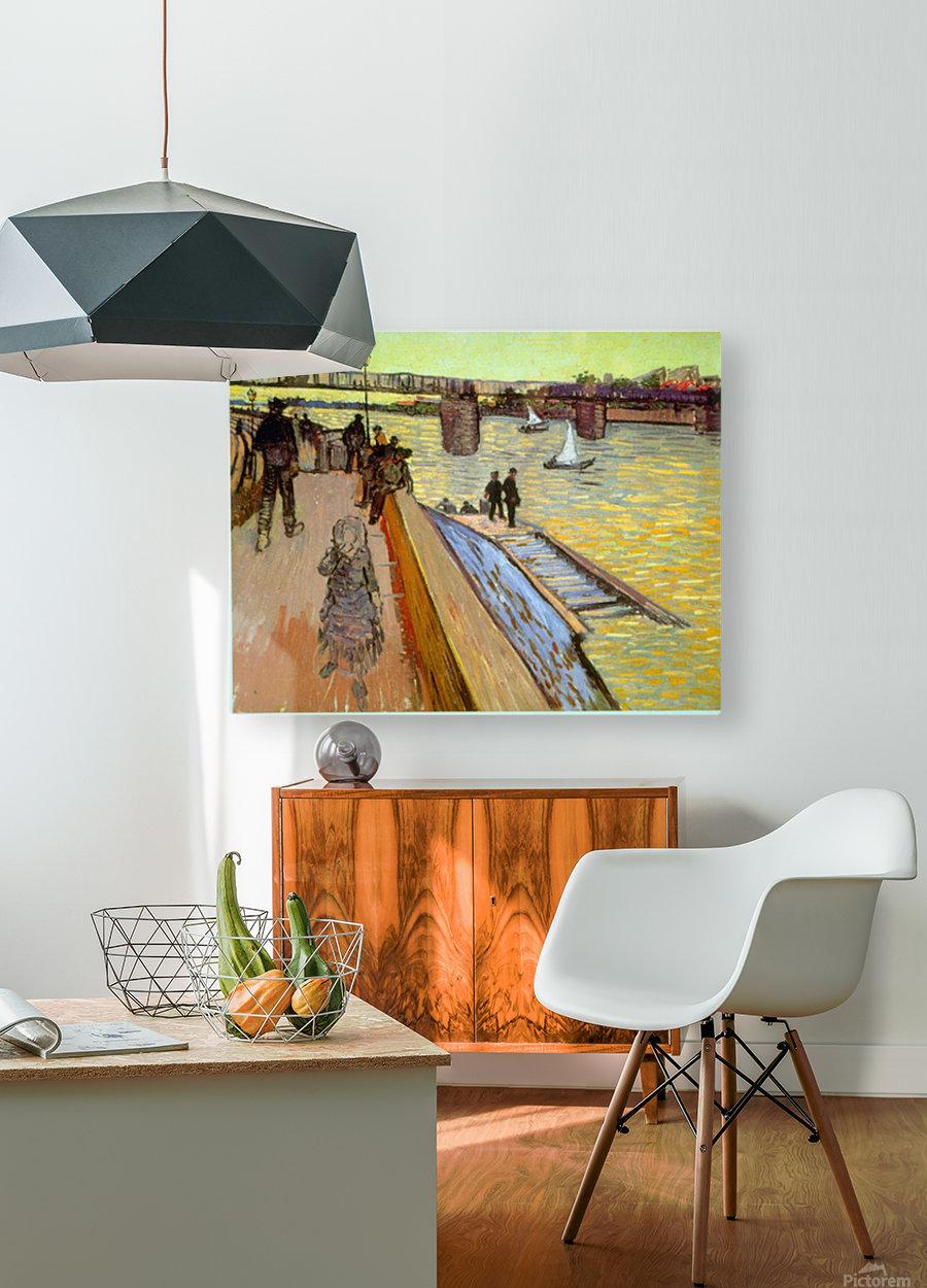 Bridge by Van Gogh  HD Metal print with Floating Frame on Back