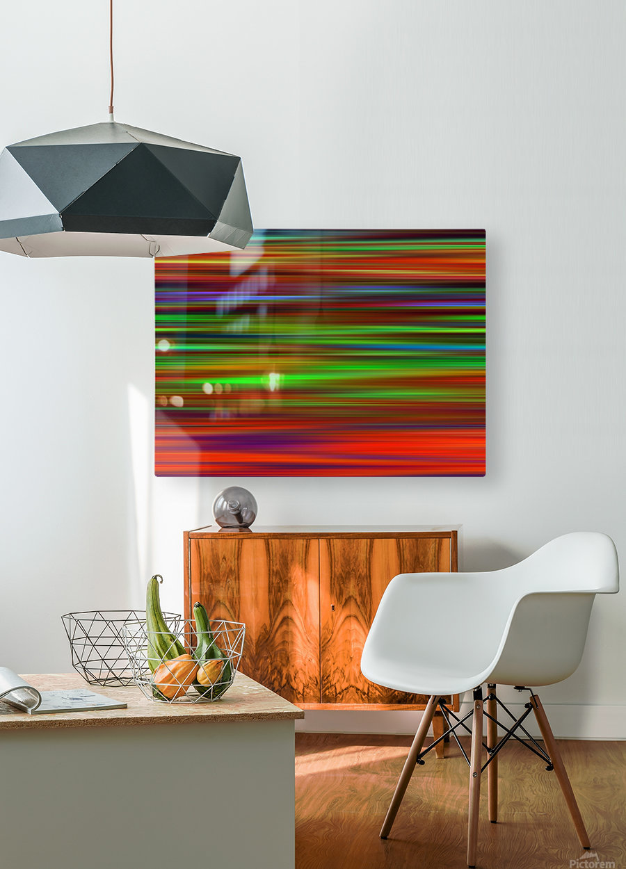 Colorful Lines  HD Metal print with Floating Frame on Back