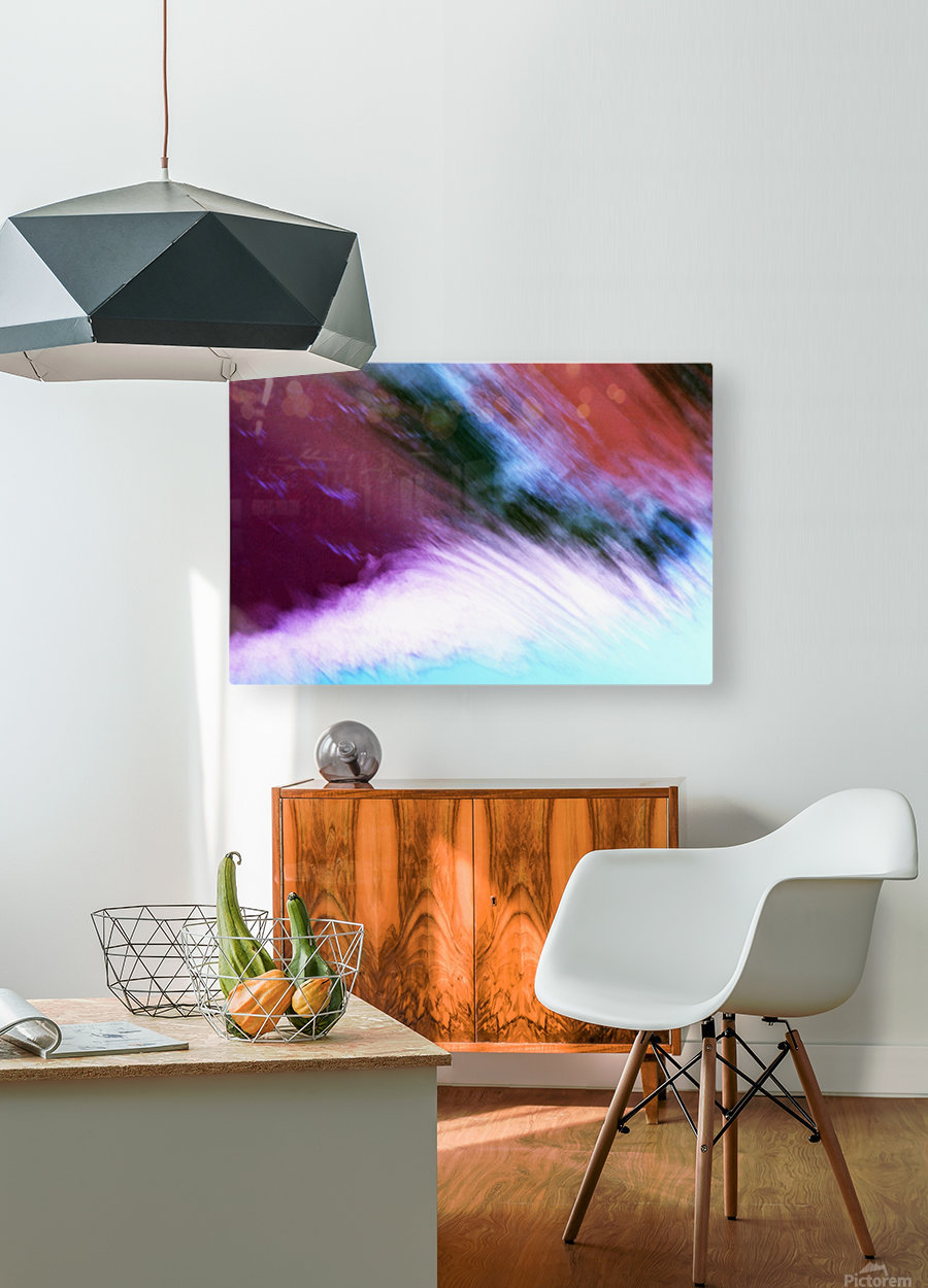 Water fall abstraction  HD Metal print with Floating Frame on Back